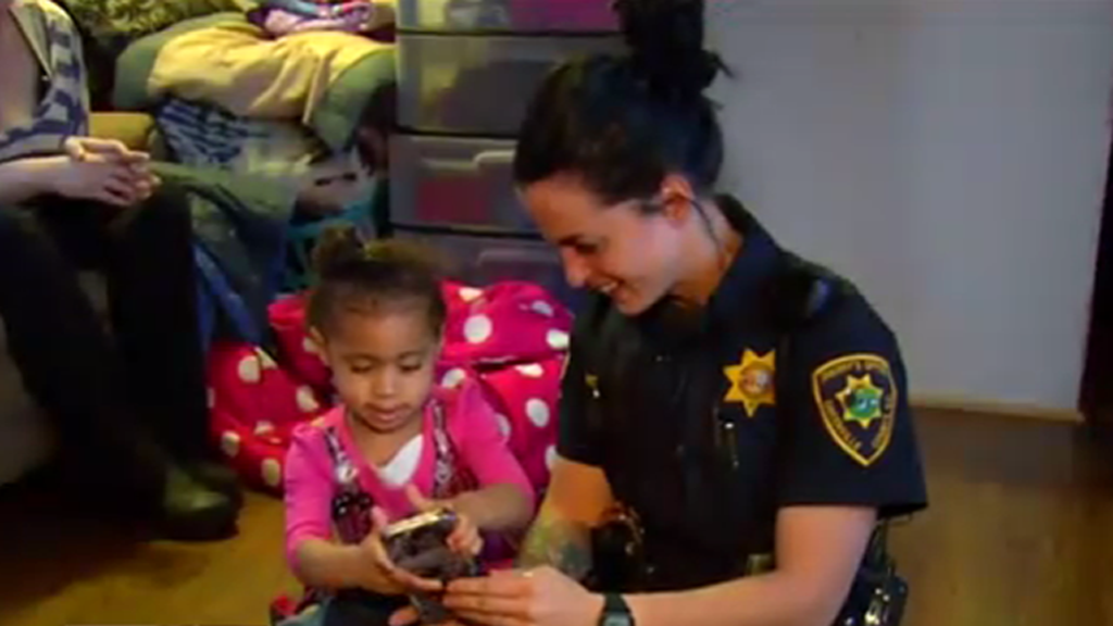 Two-year-old calls 911 for help putting pants on