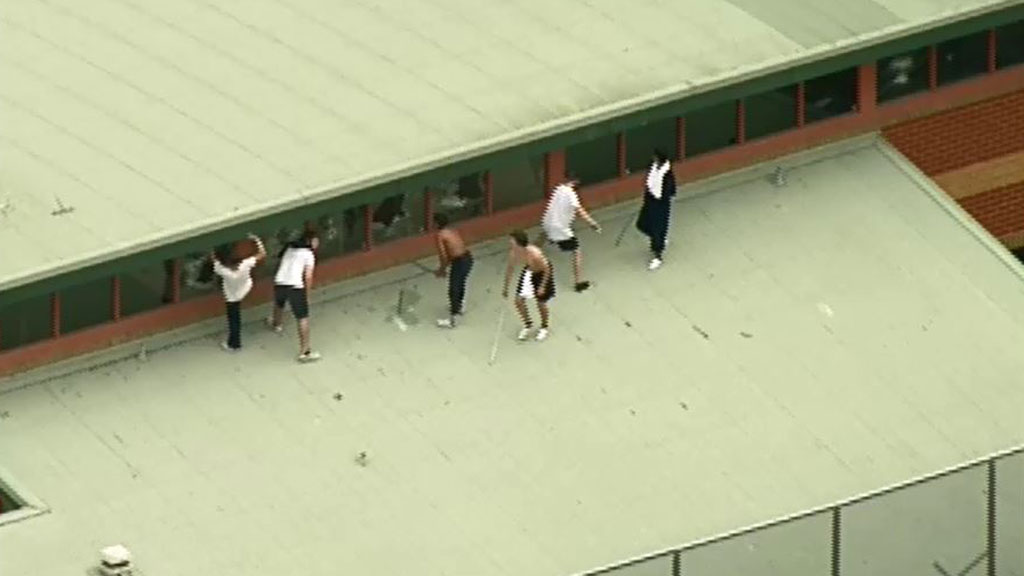 The teenagers have been smashing windows. (9NEWS)