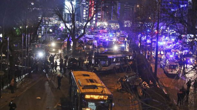 The scene in Ankara, Turkey.