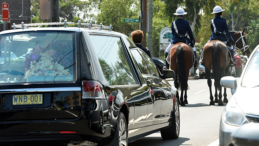 Funeral service for equestrian rider Olivia Inglis at St Jude's Church Randwick (AAP)