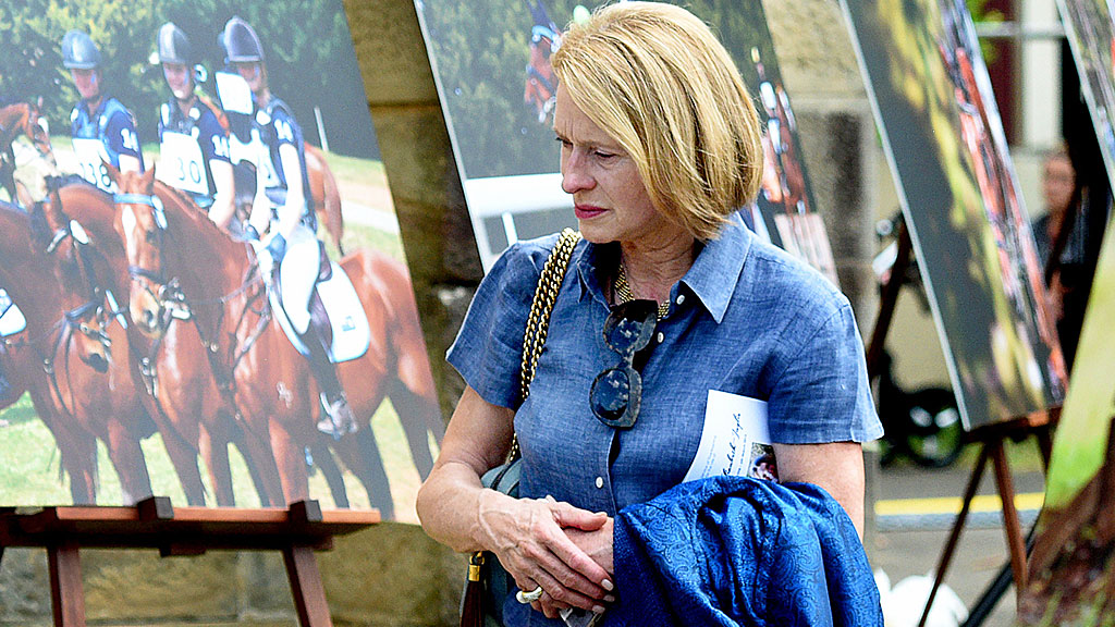Horse Trainer Gai Waterhouse at the Funeral service for equestrian rider Olivia Inglis at St Jude's Church Randwick. (AAP)