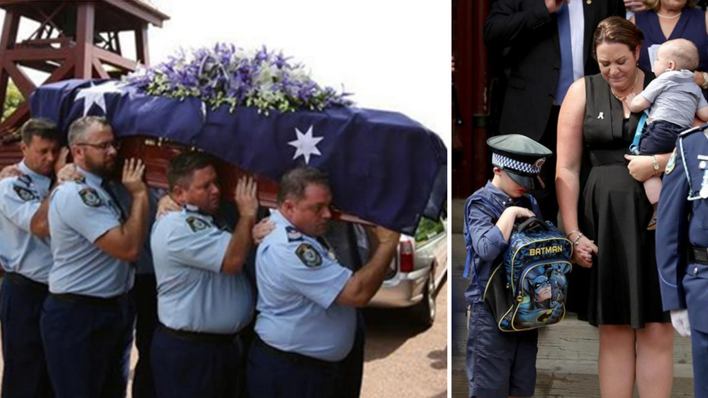 Hundreds farewell NSW police officer who died in crash