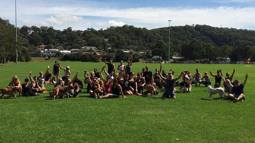 Dozens gathered on the Central Coast NSW for a day of puppy love. (Rescue Your Fitness/ Facebook)