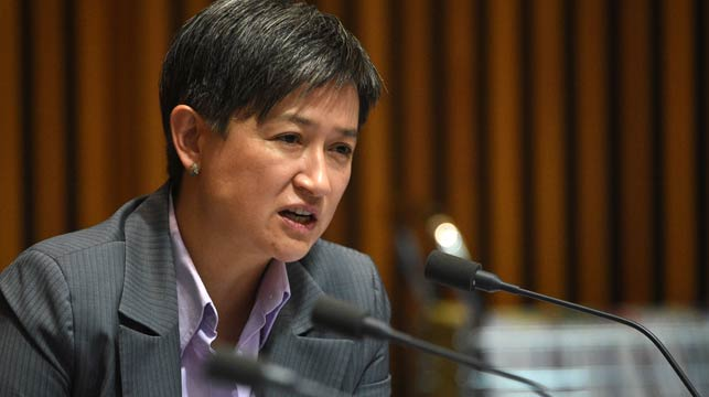 Labor senator Penny Wong has questioned the Greens' commitment to gay marriage after its alliance with the Coalition on micro parties reform. (AAP)
