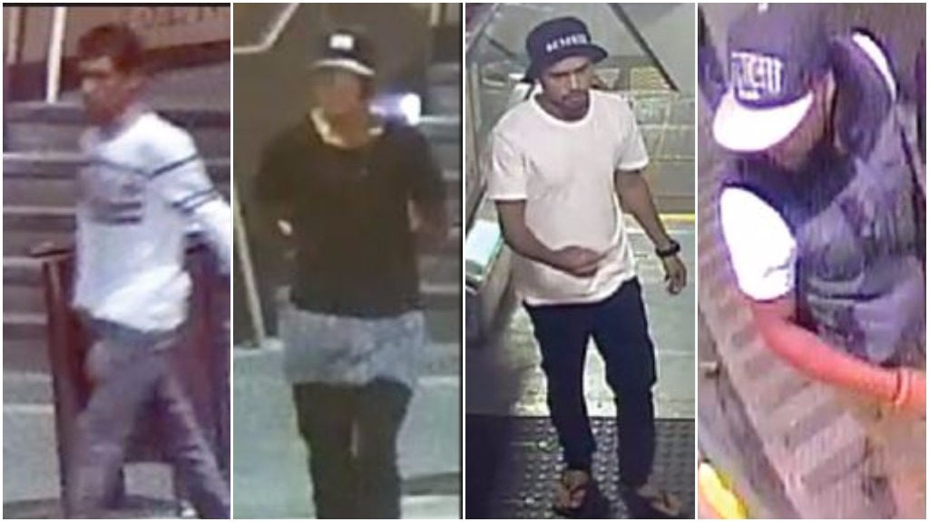 Police search for men linked to Perth train station stabbing