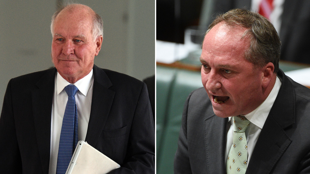 Barnaby Joyce fighting for his New England seat
