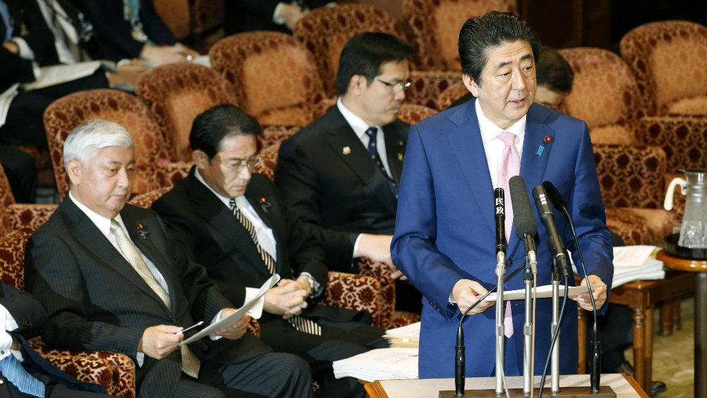 Japanese prime minister Shinzo Abe has addressed the test. (AAP)
