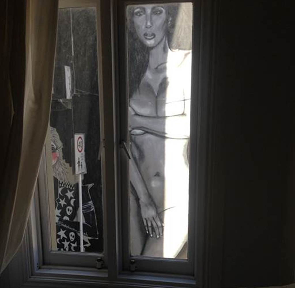 One resident's view of the mural. (Supplied)