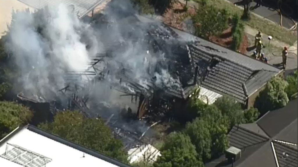 Residents in the area are warned of the smoke billowing. (9NEWS)