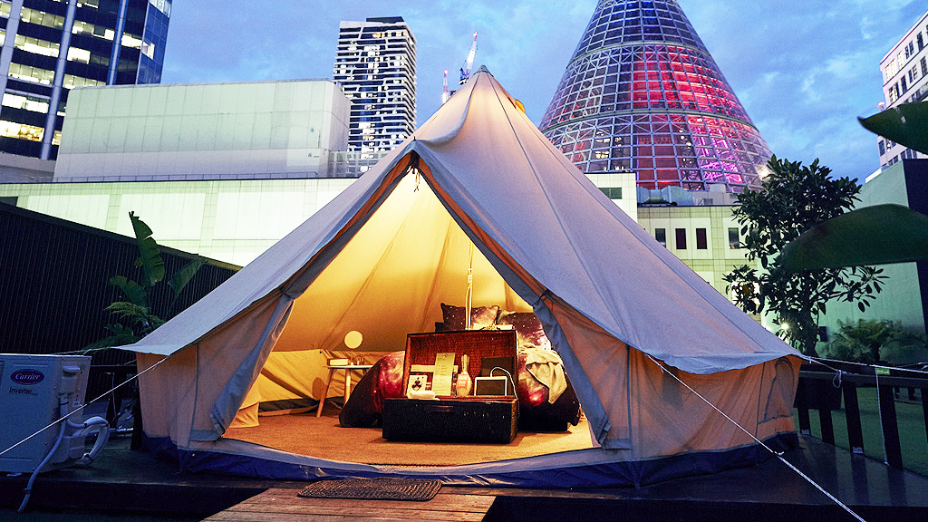 Glamping with St Jerome's (supplied)