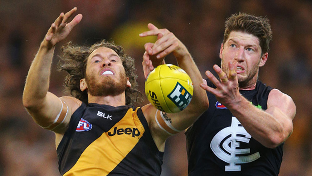 Tigers survive Blues scare for AFL win