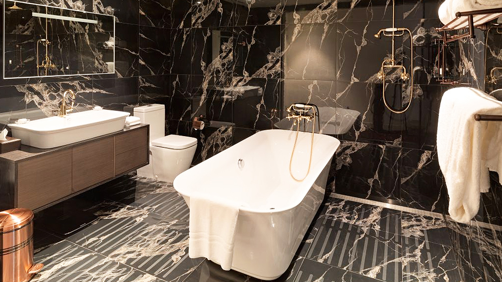 Bathroom at the Terrace Hotel (supplied)