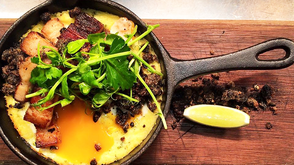 Cantina 663's baked grits and egg brunch (Facebook)