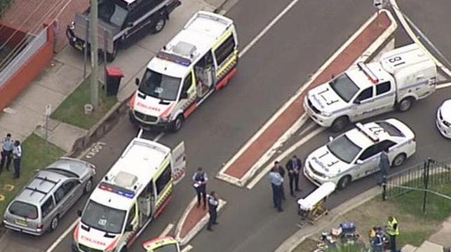 Police vehicles have blocked off Marion Street. (9NEWS).