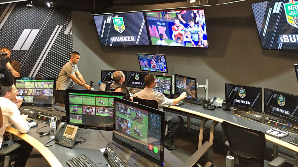 The NRL Bunker.(AAP)