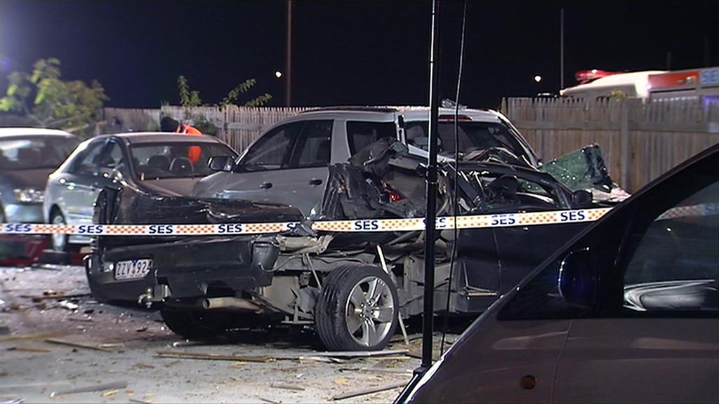 Five cars were damaged. (9NEWS)