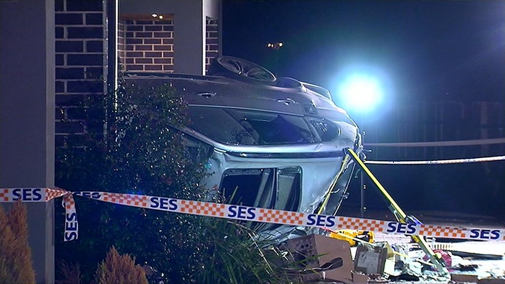 No one was injured in the Roxburgh Park crash. (9NEWS)