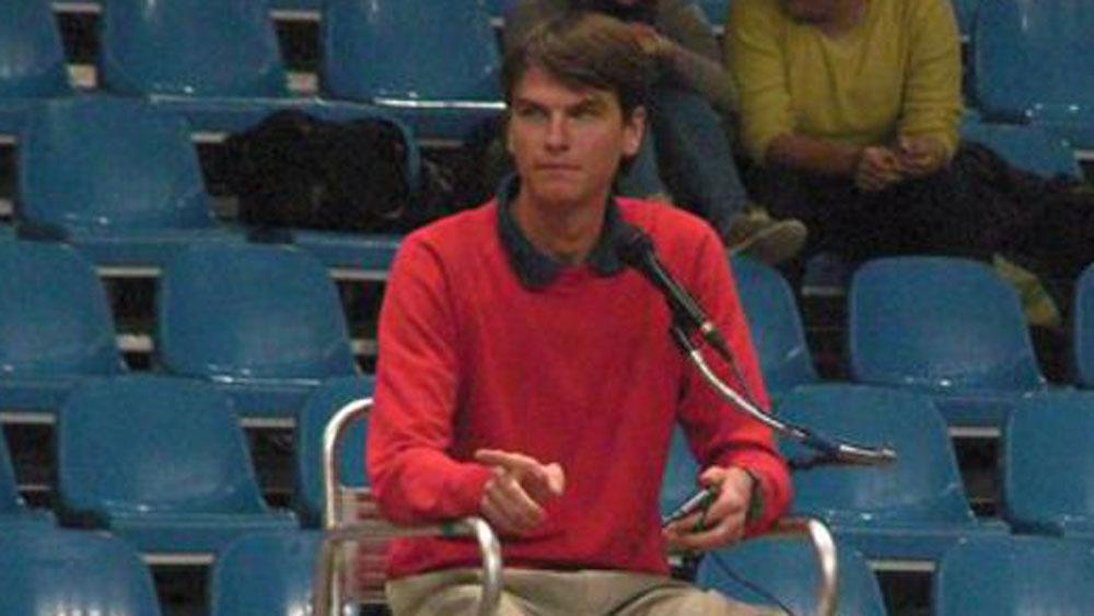 Croatian tennis umpire Denis Pitner. (Supplied)