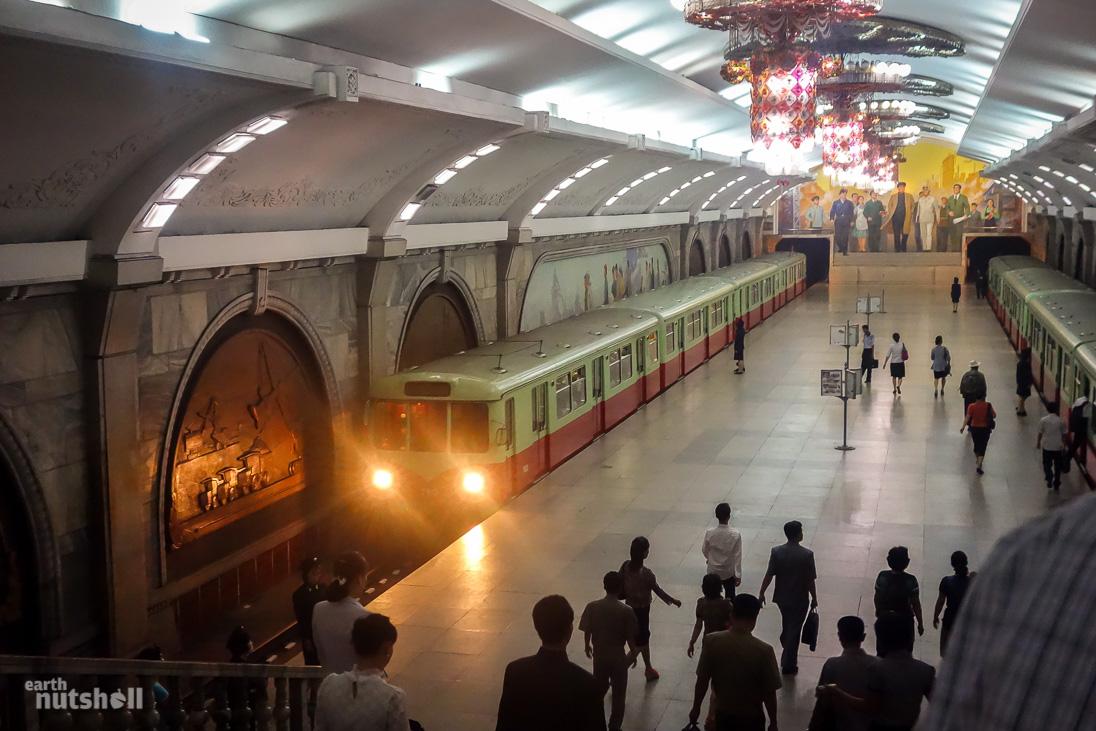 Inside North Korea's remarkable Pyongyang Metro stations