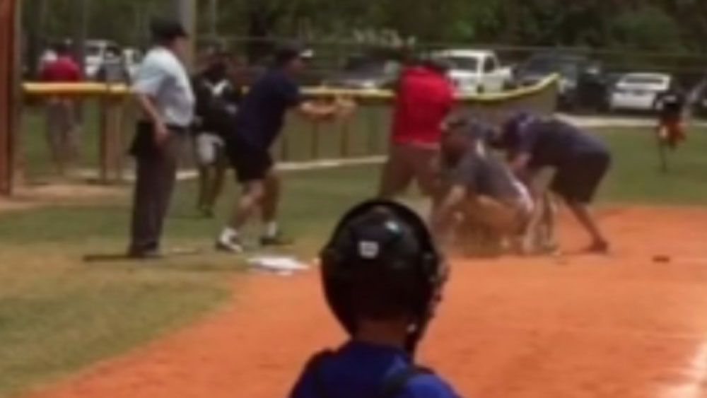 Brawling youth coaches banned from baseball