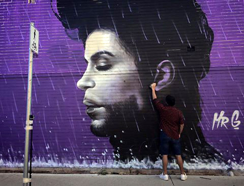 remembered in giant murals in melbourne and sydney prince remembered in giant murals in melbourne and sydney