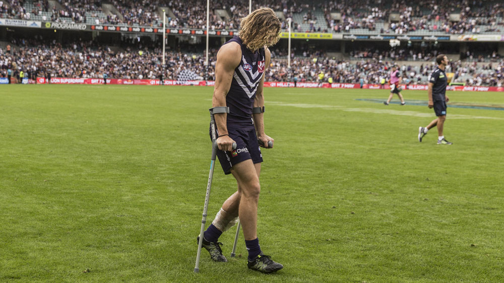 Fremantle confirm Nat Fyfe will miss the rest of the AFL season as he recovers from a leg fracture