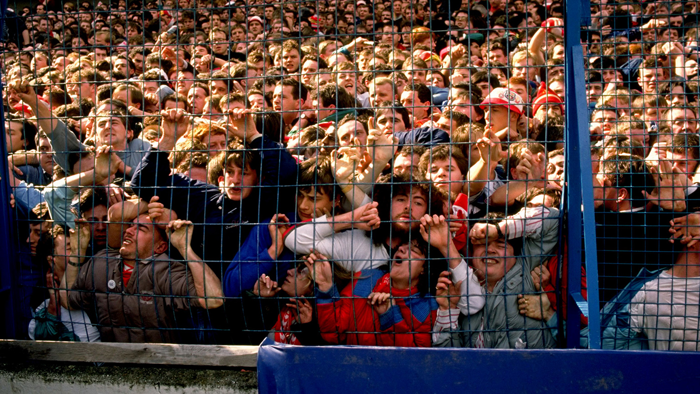 Images from 1989 show people crammed into Hillsborough stadium. (AAP)
