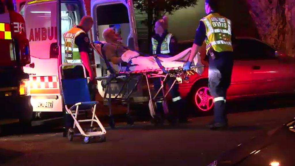 Elderly man hospitalised after fire tears through Sydney unit