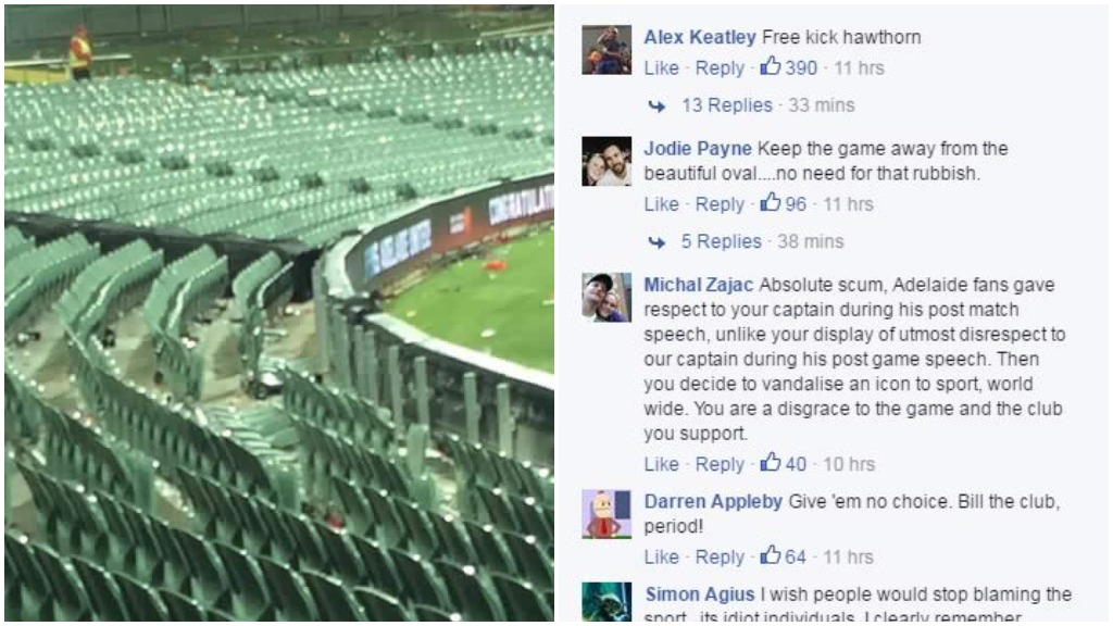 Reports of damage at Adelaide Oval following A-League Grand Final