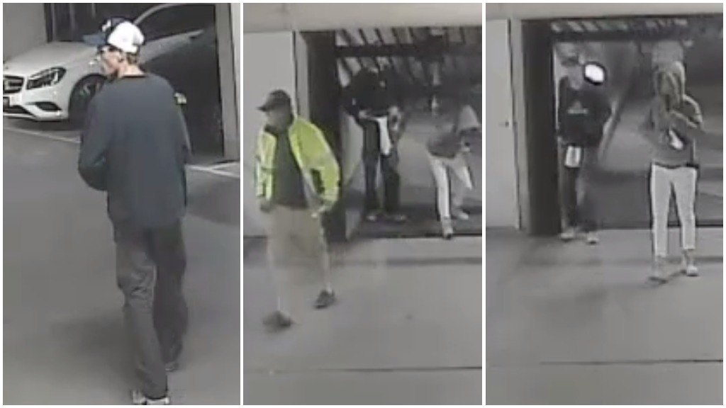 CCTV captures four people at scene of Melbourne carpark burglary