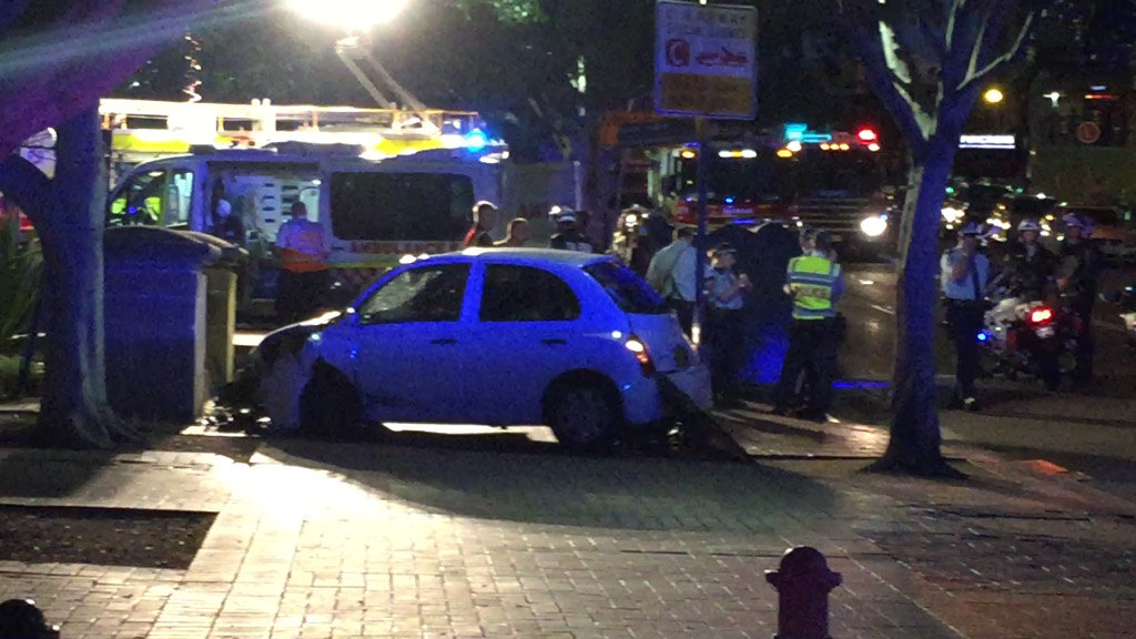 Car hits two pedestrians in Sydney, leaving one with critical head injuries