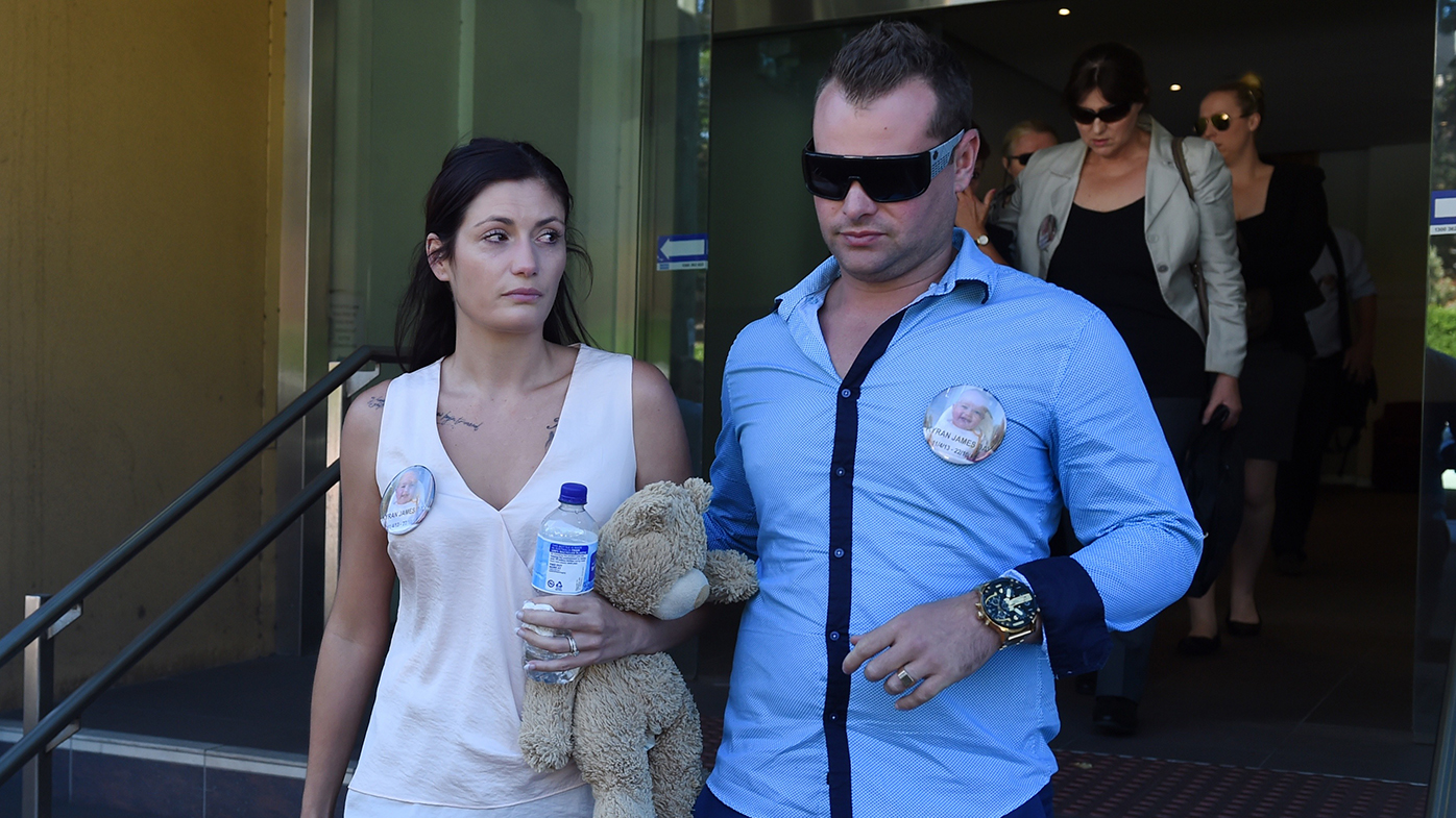 NSW mum breaks down at inquest into baby son's death