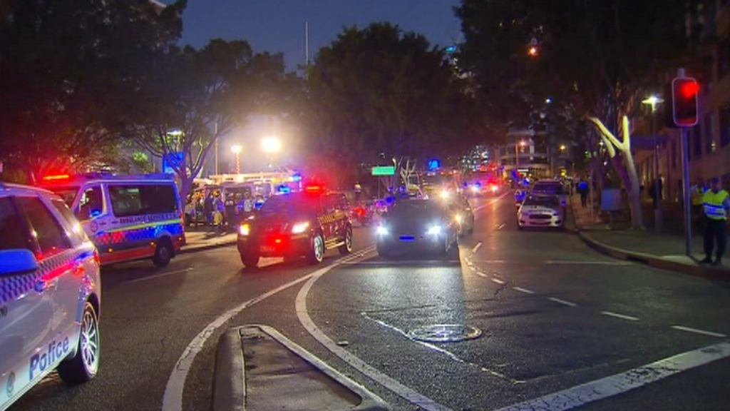 The men were taken to Royal Prince Alfred Hospital. (9NEWS)