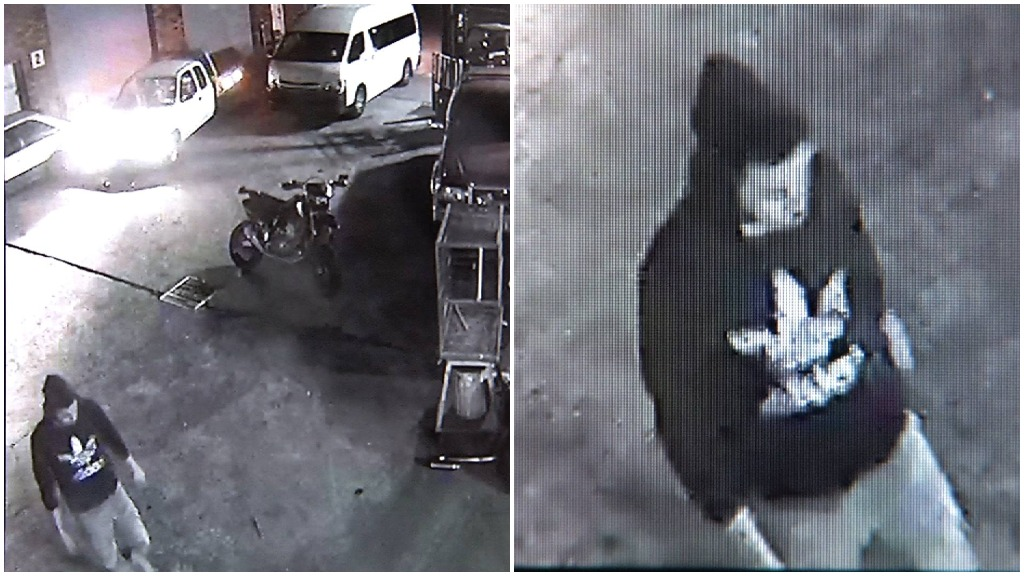 CCTV footage of a man police wish to speak to. (NSW Police)