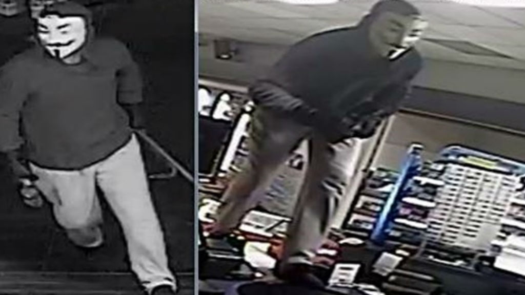 Police searching for man who wore 'V for Vendetta' mask during Melbourne robbery
