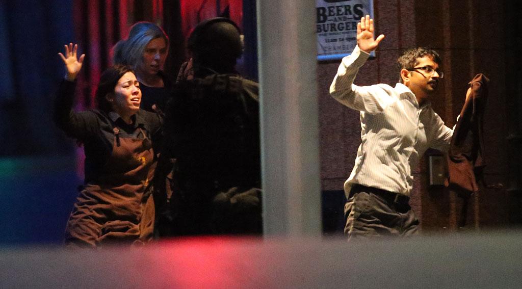 Hostages escape (AAP)