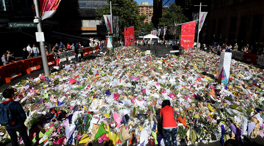 Martin Place after Lindt Cafe siege (AAP)