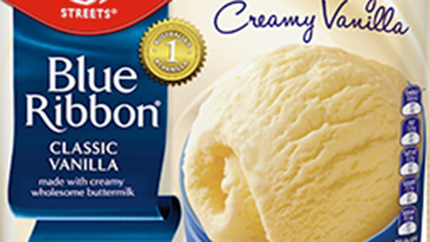 Blue Ribbon ice cream tubs recalled over plastic pieces