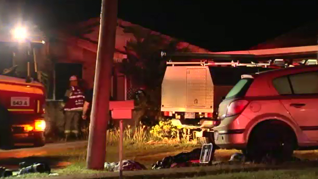 A man died in the Ipswich fire. (9NEWS)