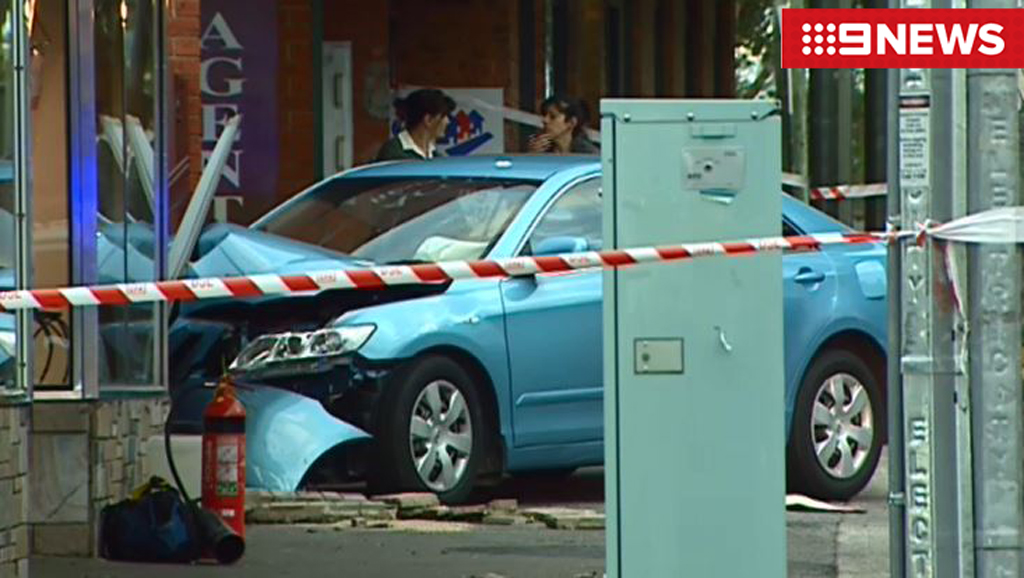 The driver has been taken to hospital for observation. (9NEWS)