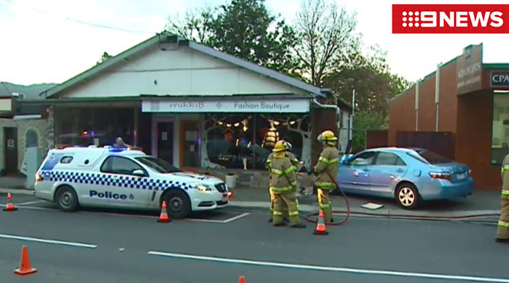 Car crashes into shop in Melbourne's north-east