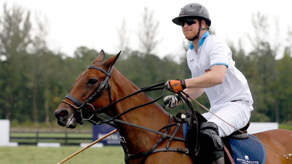 Prince Harry played in the Sentebale charity match in Florida. (AAP)