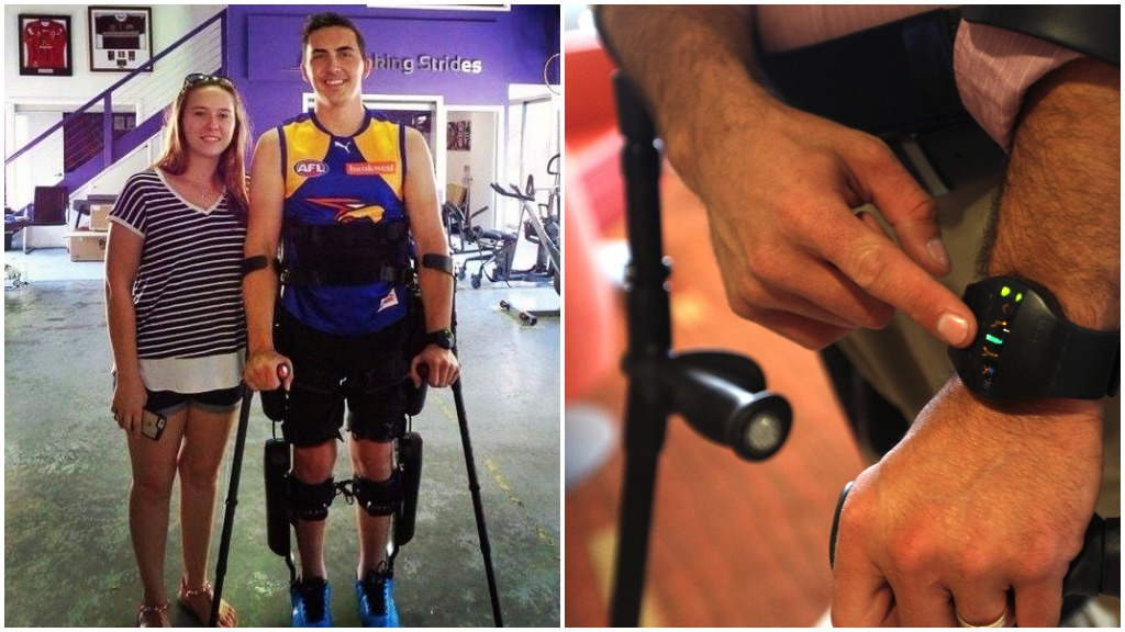 Paraplegic man from Western Australia given the chance to walk down the aisle with robotic exoskeleton