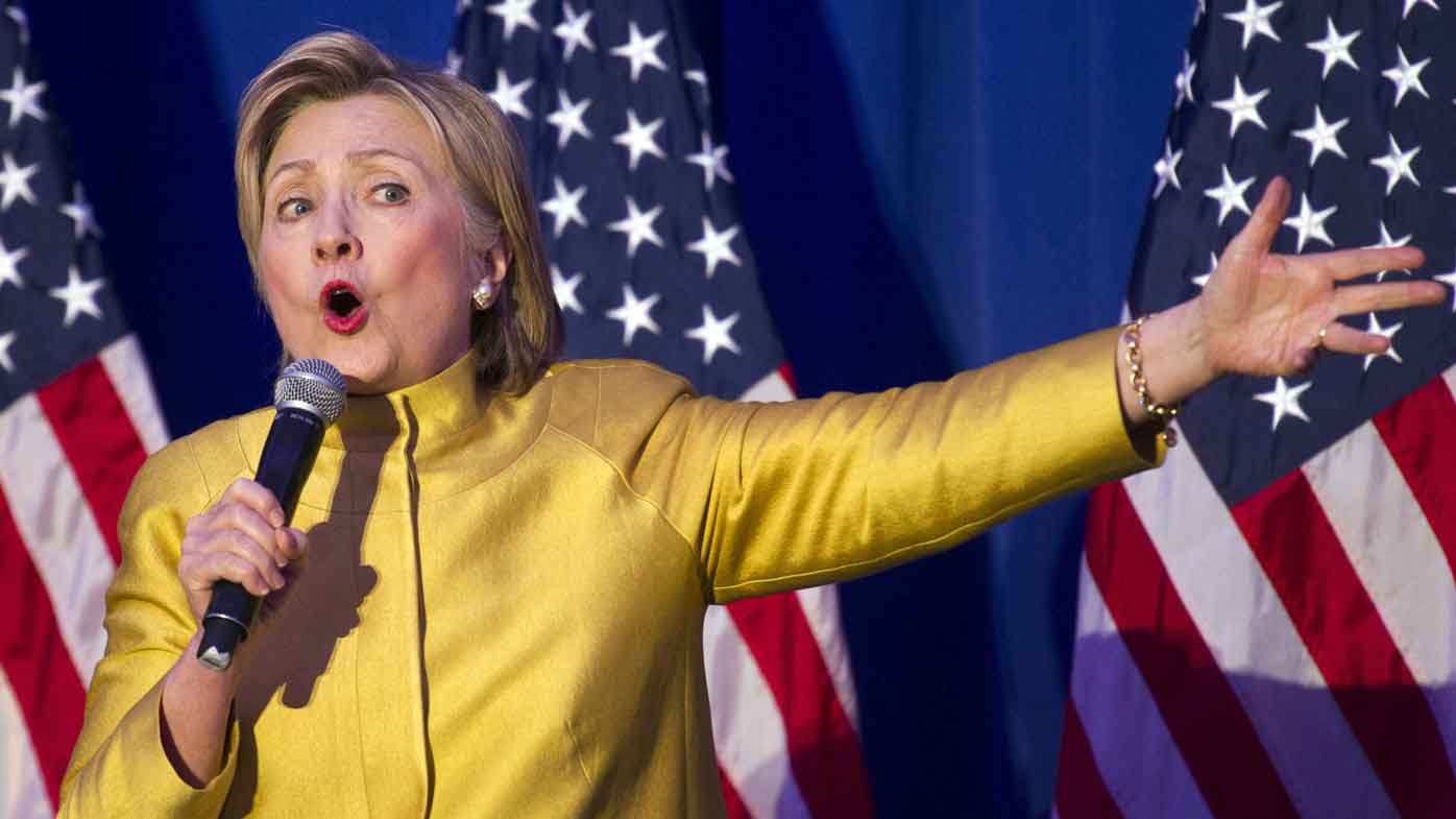 Hillary Clinton speaks at an event in Washington DC. (AAP)