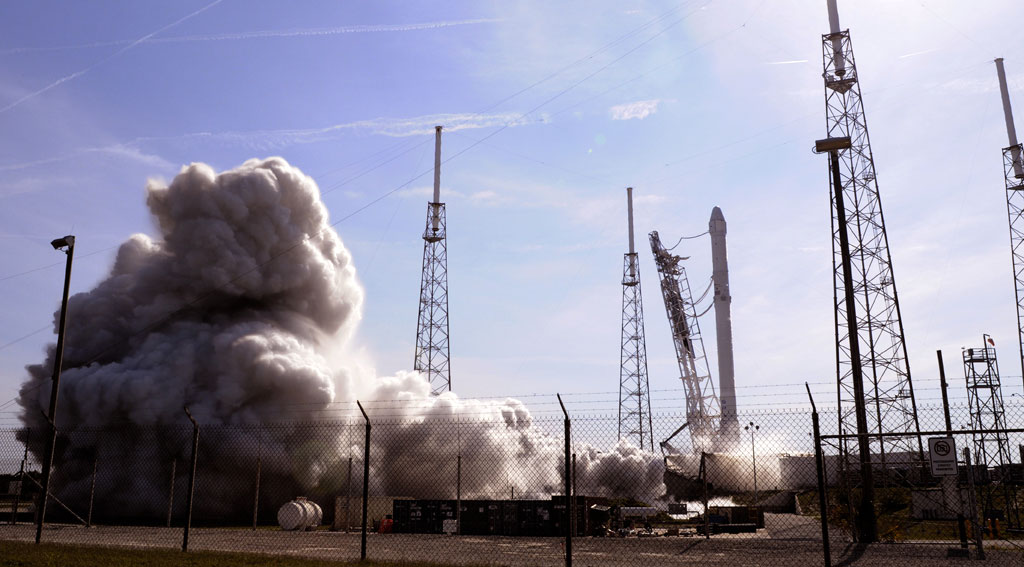 SpaceX successfully lands first stage of its rocket after space launch