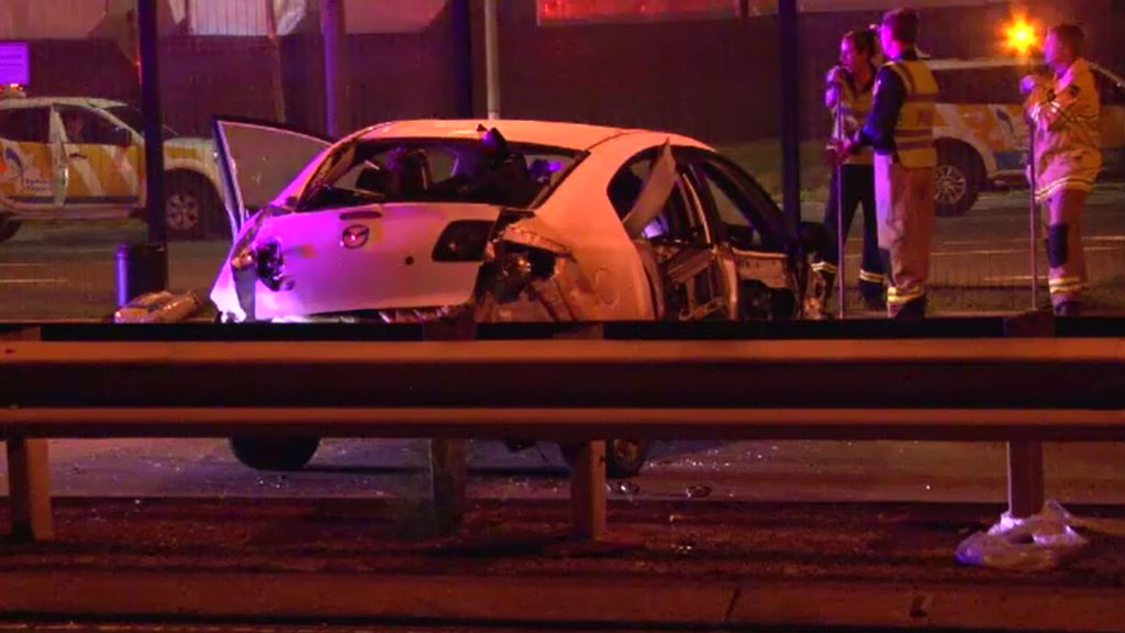 Disqualified learner driver charged after crashing car at Sydney Airport