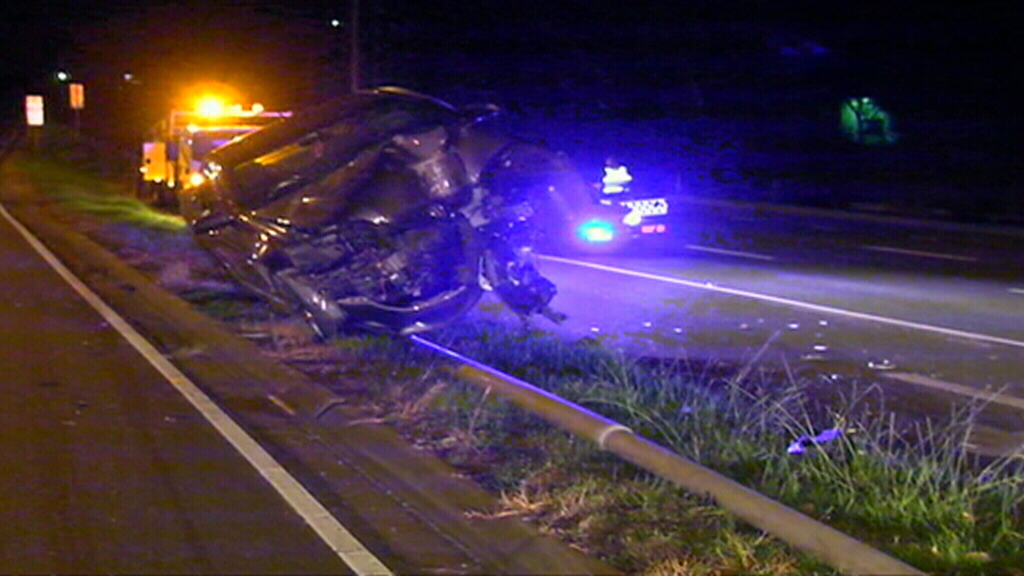 The man crashed on the Nepean Highway near Mount Eliza. (9NEWS)