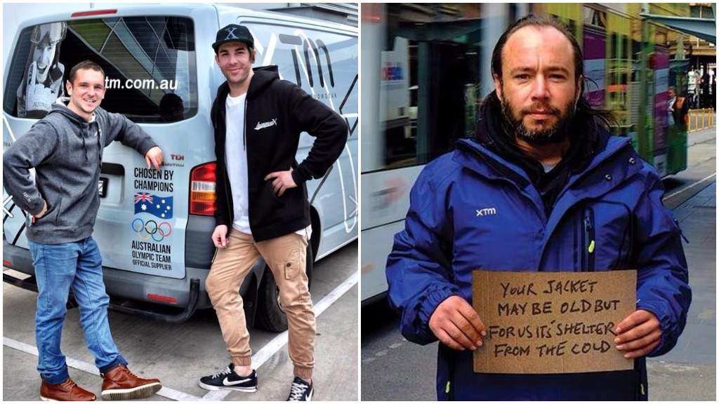 Ski shop in Melbourne gives second-hand jackets to the homeless