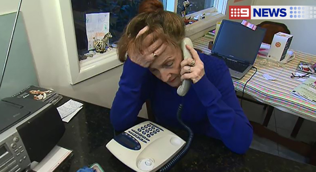Ms Harrison reported the scam to police, but is unlikely to recover her funds. (9NEWS)