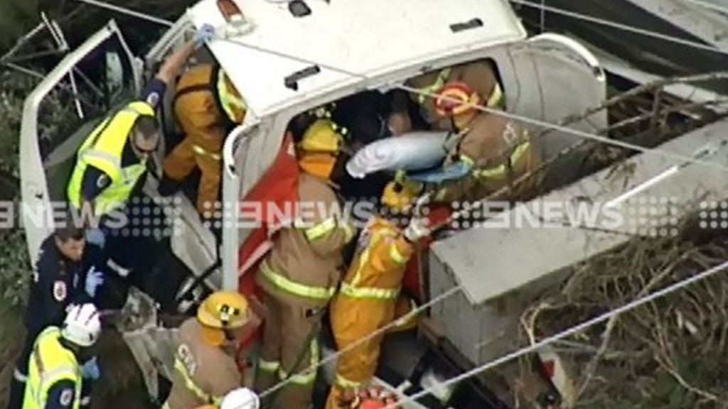 The crash happened about 2pm in Lorne. (9NEWS)